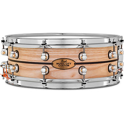 Pearl Music City Custom Solid Shell Snare Ash with Ebony Inlay