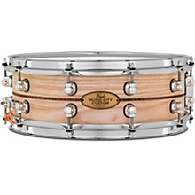 Pearl Music City Custom Solid Shell Snare Ash with Kingwood Center Inlay