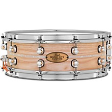 Pearl Music City Custom Solid Shell Snare Ash with Nicotine Marine Inlay