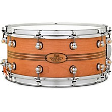 Pearl Music City Custom Solid Shell Snare Cherry with Boxwood-Rose TriBand Inlay