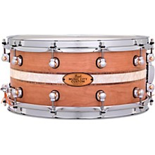 Pearl Music City Custom Solid Shell Snare Cherry with DuoBand Ebony Marine Inlay