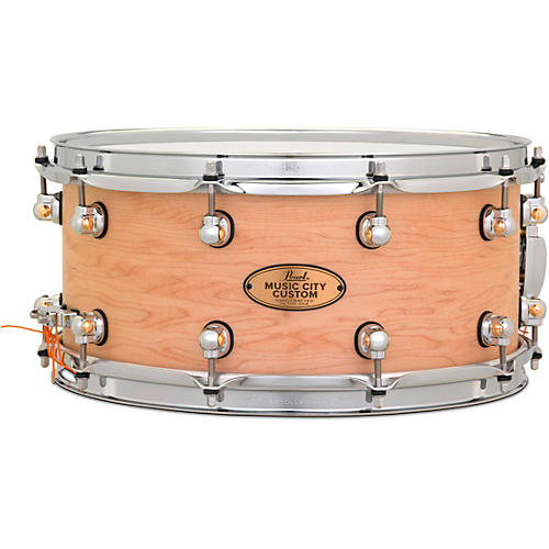 Pearl Music City Custom Solid Shell Snare Maple in Hand-Rubbed Natural Finish 14 x 6.5 in.