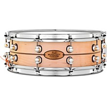 Pearl Music City Custom Solid Shell Snare Maple with Boxwood-Rose Inlay