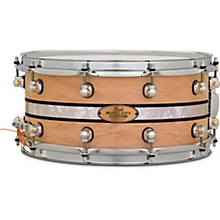 Pearl Music City Custom Solid Shell Snare Maple with DuoBand Ebony Marine Inlay