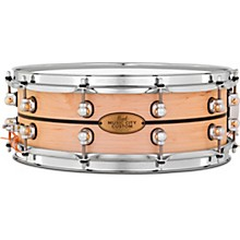 Pearl Music City Custom Solid Shell Snare Maple with Ebony Inlay