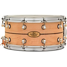 Pearl Music City Custom Solid Shell Snare Maple with Kingwood Center Inlay
