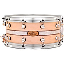 Pearl Music City Custom Solid Shell Snare Maple with Kingwood Royal Inlay