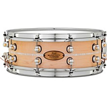Pearl Music City Custom Solid Shell Snare Maple with Nicotine Marine Inlay