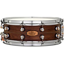Pearl Music City Custom Solid Shell Snare Walnut with Boxwood-Rose Inlay