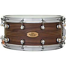 Pearl Music City Custom Solid Shell Snare Walnut with Boxwood-Rose TriBand Inlay