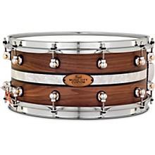 Pearl Music City Custom Solid Shell Snare Walnut with DuoBand Ebony Marine Inlay