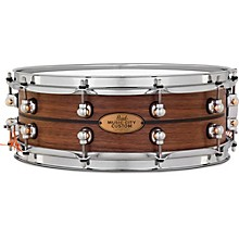 Pearl Music City Custom Solid Shell Snare Walnut with Ebony Inlay
