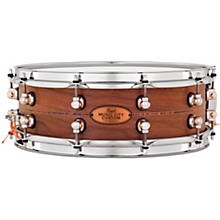 Pearl Music City Custom Solid Shell Snare Walnut with Kingwood Center Inlay