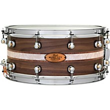 Pearl Music City Custom Solid Shell Snare Walnut with Kingwood Royal Inlay