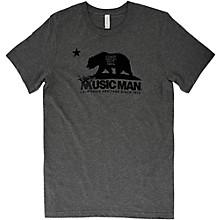 Music Man Bear T-Shirt Small Heather Gray