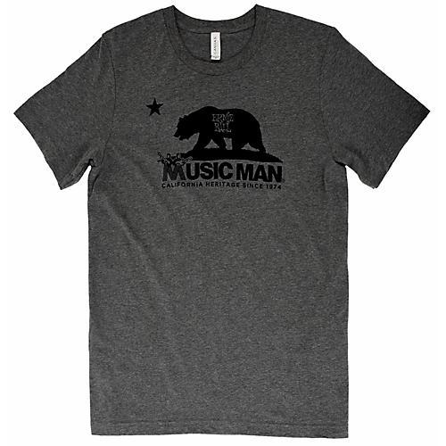 Ernie Ball Music Man Music Man Bear T-Shirt XX Large Heather Gray