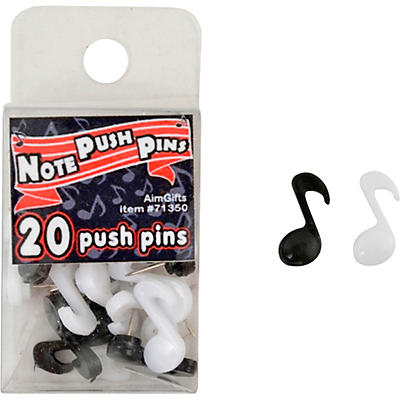 AIM Music Note Push Pins, 20 Pack