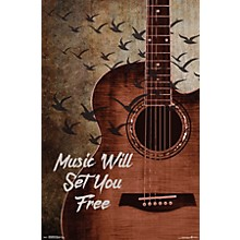 Music Will Set You Free Poster Premium Unframed
