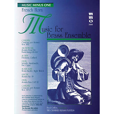 Music Minus One Music for Brass Ensemble Music Minus One Series Softcover with CD Composed by Various