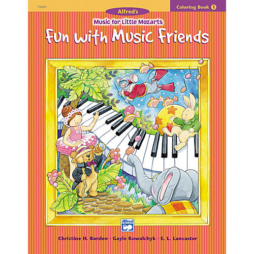 Alfred Music for Little Mozarts Coloring Book 1 -- Fun with Music Friends