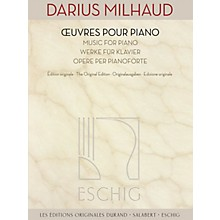 Max Eschig Music for Piano (The Original Edition) Editions Durand Series Softcover Composed by Darius Milhaud