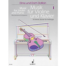 Schott Music for Violin and Piano - Volume 1 (50 Small Pieces for Beginners) Schott Series Softcover