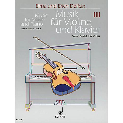 Schott Music for Violin and Piano (Volume 3 - Vivaldi) Schott Series