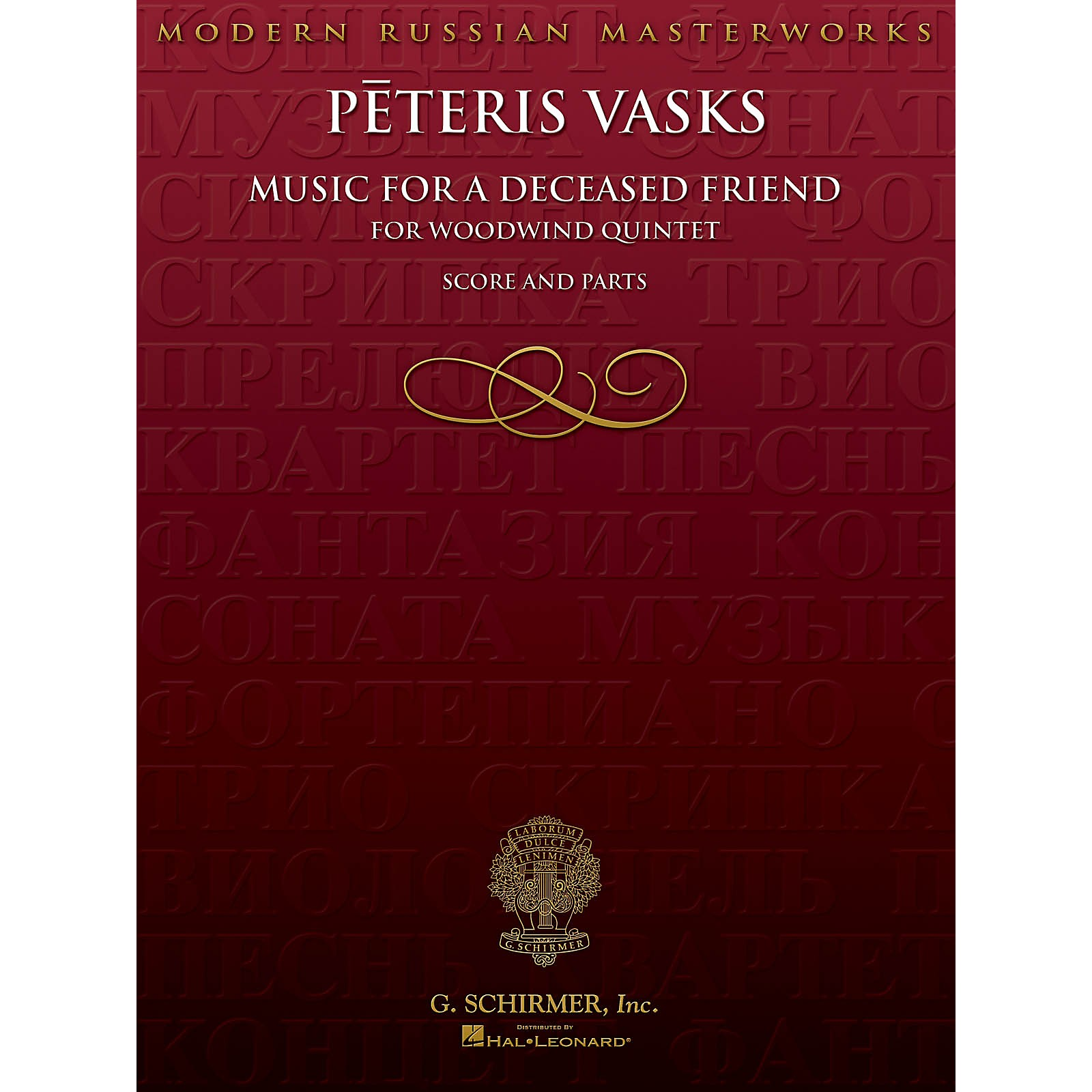 G. Schirmer Music for a Deceased Friend (Score and Parts) Woodwind Ensemble Series Composed by Peteris Vasks
