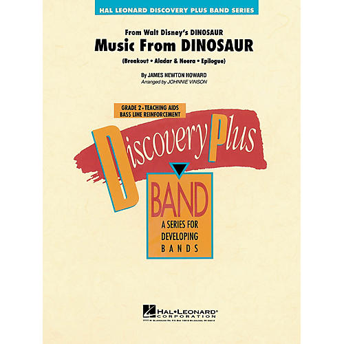 Hal Leonard Music from Dinosaur - Discovery Plus Concert Band Series Level 2 arranged by Johnnie Vinson