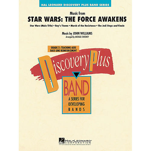 Hal Leonard Music from Star Wars: The Force Awakens Concert Band Level 2.5 Arranged by Michael Sweeney