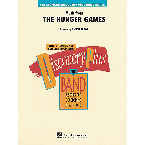 Hal Leonard Music from The Hunger Games - Discovery Plus Concert Band Series Level 2 arranged by Michael Brown