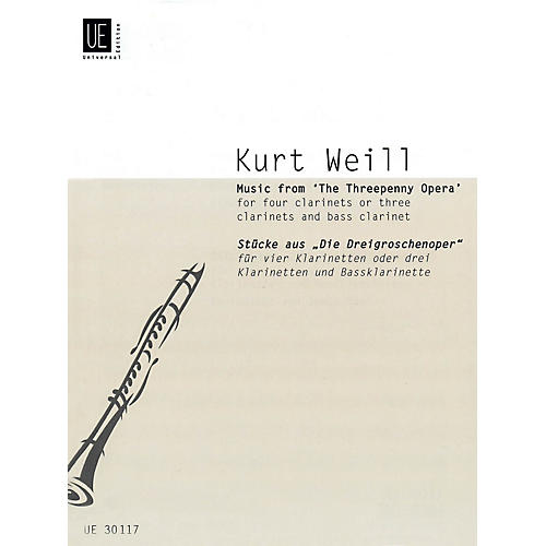 Universal Edition Music from The Threepenny Opera (Score and Parts) Schott Series Composed by Kurt Weill