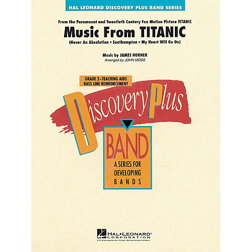Hal Leonard Music from Titanic - Discovery Plus Concert Band Series Level 2 arranged by John Moss