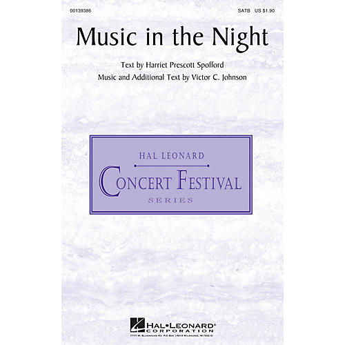 Hal Leonard Music in the Night SATB composed by Victor C. Johnson