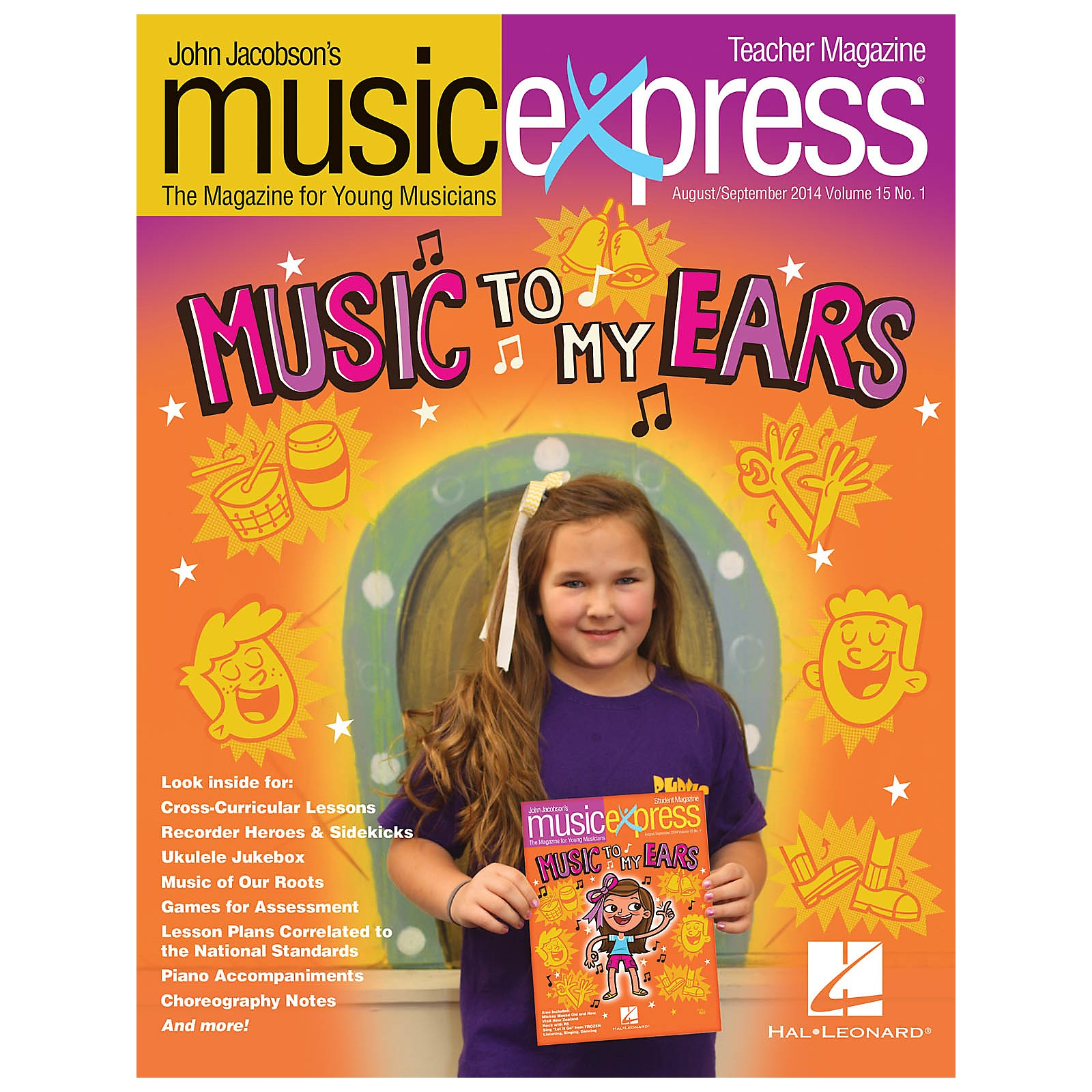 Hal Leonard Music to My Ears Vol. 15 No. 1 (August/September 2014) PREMIUM COMPLETE PAK Composed by John Jacobson