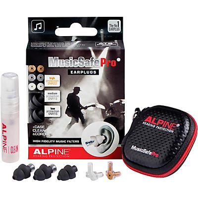 Alpine Hearing Protection MusicSafe Pro Earplugs (Black)