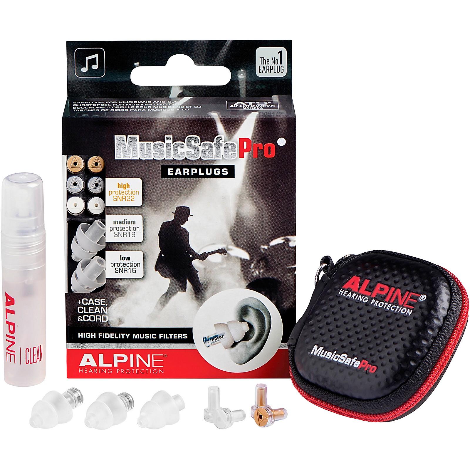 Alpine Hearing Protection MusicSafe Pro Earplugs (Transparent)