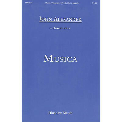 Hinshaw Music Musica SSAATTBB composed by John Alexander