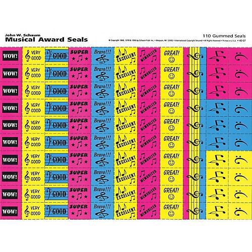 SCHAUM Musical Award Seals (Schaum Teaching Aids) Educational Piano Series Softcover