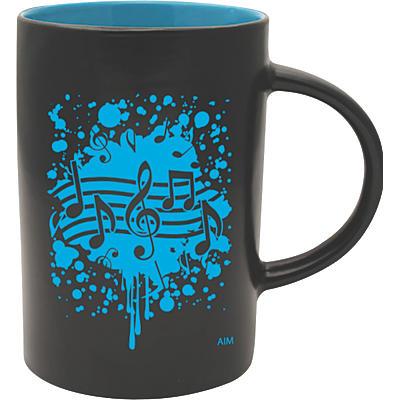 AIM Musical Note Burst Black/Blue Caf Mug