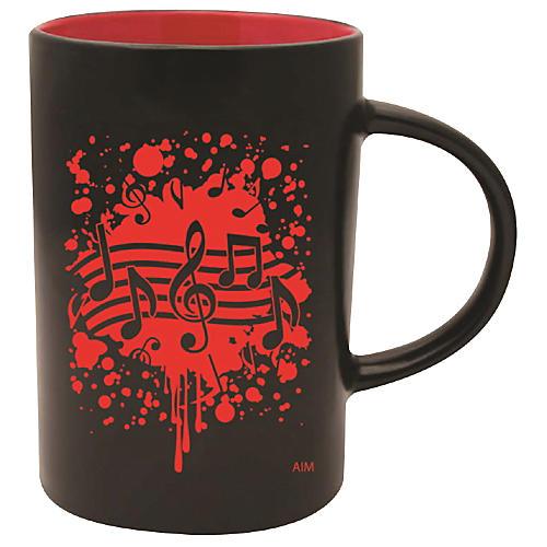 AIM Musical Note Burst Black/Red Caf Mug