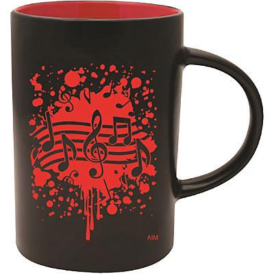 AIM Musical Note Burst Black/Red Coffee Mug