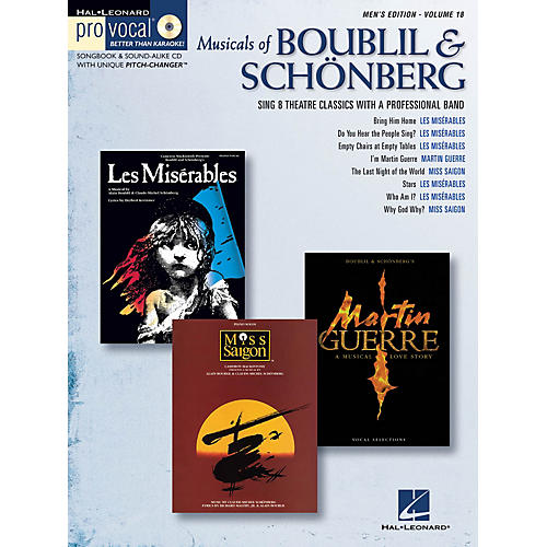 Hal Leonard Musicals of Boublil & Schonberg Pro Vocal Series Softcover with CD Composed by Alain Boublil