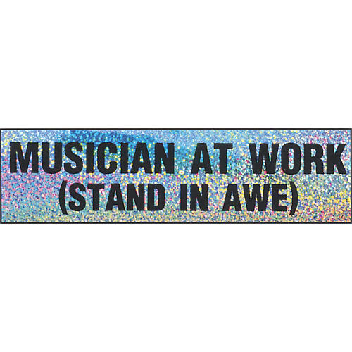 Chesbro Music Co. Musician At Work Bumper Sticker