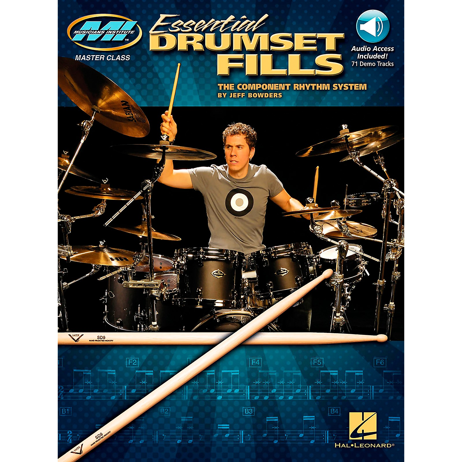 Hal Leonard Musician's Institute's Essential Drumset Fills: The Component Rhythm System (Book/CD)