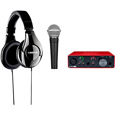 Shure Musician's Up To Eleven Bundle With Focusrite Scarlett Solo, Shure SM58 & Shure SRH240