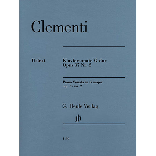 G. Henle Verlag Muzio Clementi - Piano Sonata in G Major Op 37, No 2 Henle Music Softcover by Clementi Edited by Gerlach