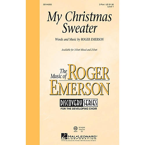 Hal Leonard My Christmas Sweater (Discovery Level 1) 2-Part composed by Roger Emerson