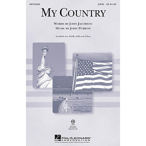 Hal Leonard My Country SAB Composed by John Purifoy
