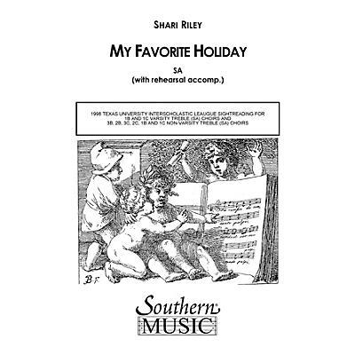 Hal Leonard My Favorite Holiday (Choral Music/Octavo Secular Sa) SA Composed by Riley, Shari